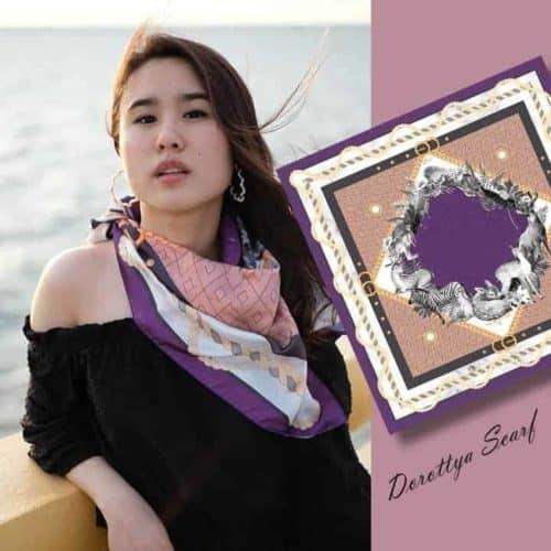 ผ้าพันคอ set 3 purple